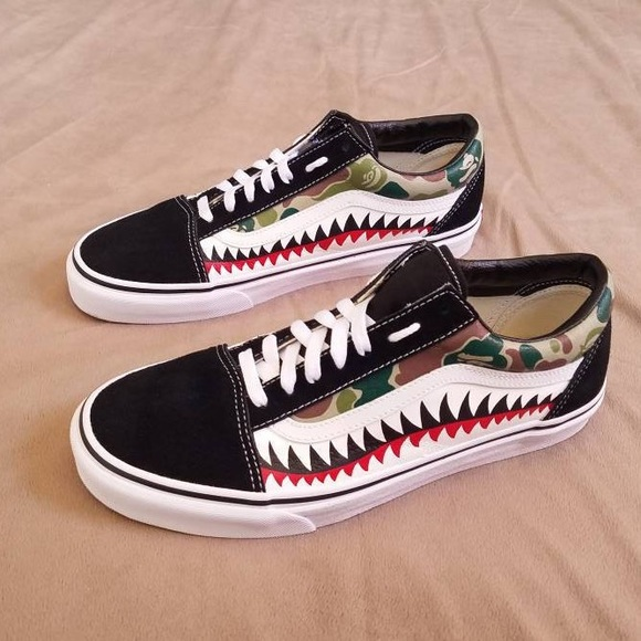 80cd152c2fb5ab Custom Bape camo vans